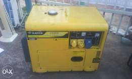 A foreign used 6.5 KVA silent generator