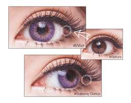 Yearly purple contact lenses, prescription -1.25