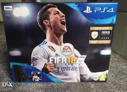 PlayStation 4 with FIFA 18 and 2 controllers