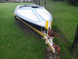 Speed boat and trailer for sale