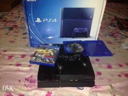 Playstation 4 with 1 controller and pes16 the order and wwe