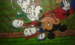 Mickey mouse and donald duck family cartoon