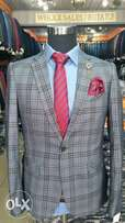 Checkered Classic Suit for Men
