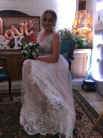 Suknia ślubna Julia Gastoł Różowy Tiul Gdynia Wzgórze świętego