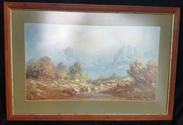 Oil Painting by Hansie Potgieter (b 1942) . Listed S A Artist