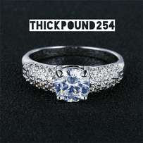 Pure Sterling Silver engagement Ring