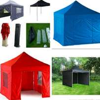 Heavy duty pop up gazebos with sides zip doors pegs ropes and bag 3x3m