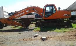 Daewoo excavator machine for sale