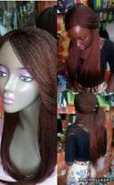 Durable braided wig mixed wine/brown