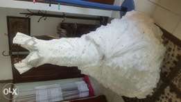 elegant off white wedding gown still new at an affordable price