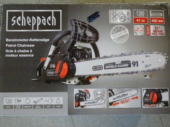 Sale scheppach csp4100tl chainsaw for  by auction
