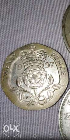 20 Pence the rare coin of Regina Elizabith the second from 1997