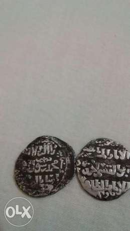 Two Silver Coins Mamleuki Sultan El Zaher Bybras year 1260 AD 659 Hij