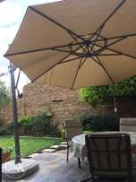 Fully adjustable large patio umbrella