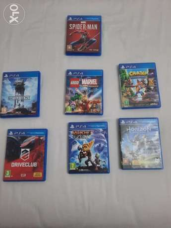 Ps4 games well condition used for only one week