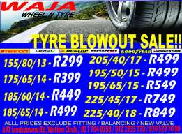 tyre blowout sale