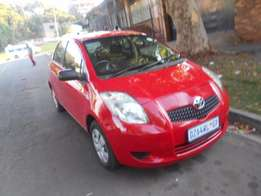 Toyota Yaris 2007 model red in color 66000km R70000