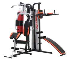 Station home gym with tummy trimmer sit Up Bench