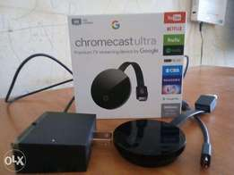 Google Chromecast Ultra - Stream on TV up to 4K Ultra HD and HDR.