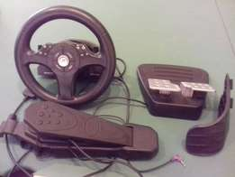 Playstation 2 steering and excelerator