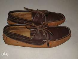 Danny Kadun Loafers In Brown Suede & leather Deatails