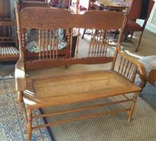 Colonial two seater spindle back bench