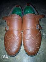 Quality handmade double strap brogues