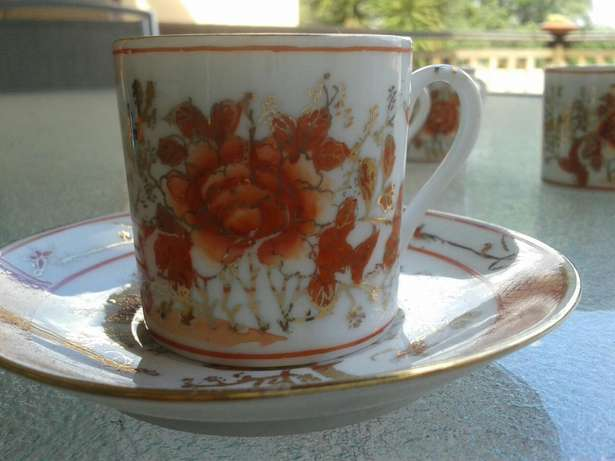 6 small Antique cups and saucers Hurlingham View - image 2
