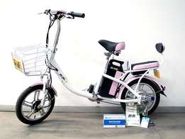 Classic pink electric hybrid bicycle EAB0001