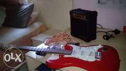 Brand New Guitar Aria Electric Guiter with amp