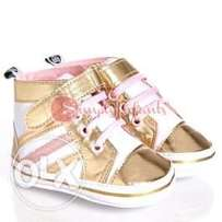 Stepping Stones Gold Stripe High-Top Sneakers (9-12 Months)