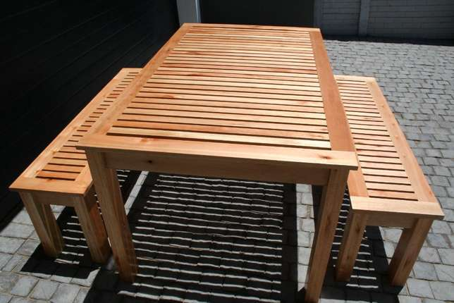 Saligna Patio Table & Benches Walmer - image 5