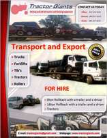 Transport/Export/Deliveries