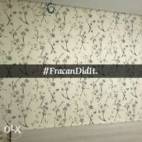 Wallpaper. Neatly installed by Fracan Wallpapers Ltd Abuja