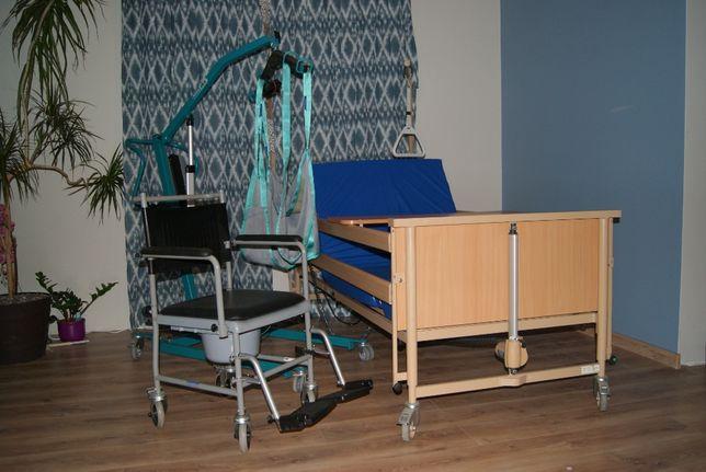 łóżko Rehabilitacyjne Materac Podnośnik Toaleta Stolik
