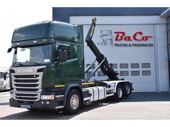 Scania R 490 TL 6X2*4 - RETARDER - EURO 6 - 556 TKM - HOOKLIFT - - 2014