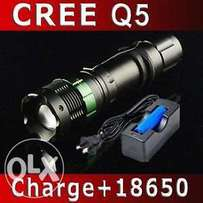 800 Lumens Rechargeable CREE LED Waterproof Zoom Flaslight Torch