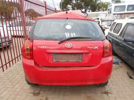 Toyota Runx strip to sell parts
