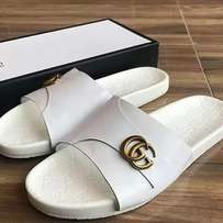 Versace slipper designed with gucci