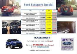 Ecosport Special!! Not to be missed.