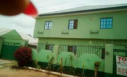 A well built three bedroom apartment,behind amac market,lugbe