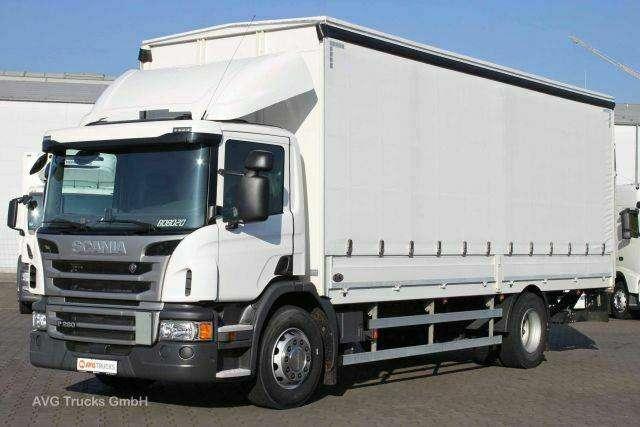 Scania p 280 euro 6 7 4 m 2 t schiebeplane nl 9 4t 2016 usato