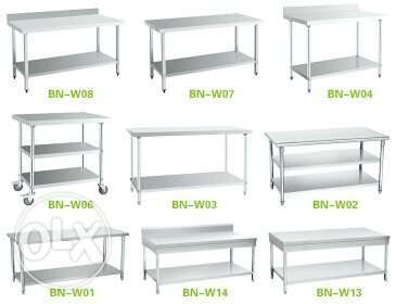 Steel fabrication table sink etc all size