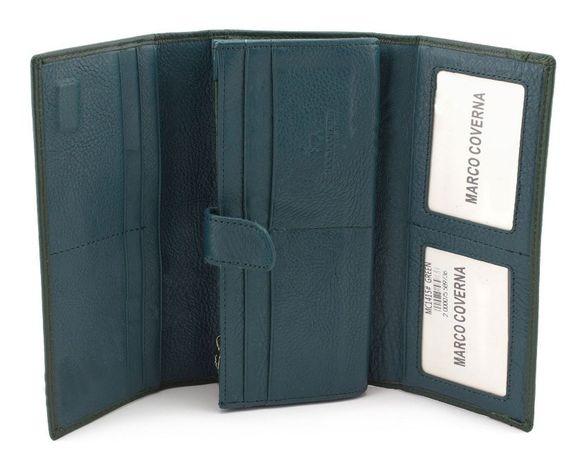 da1176830b75 Женский бордовый и зеленый кошелек на магнитах с блоком под карточки Київ -  зображення 1