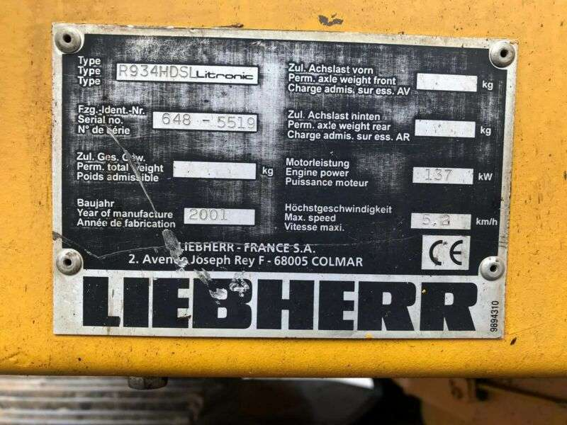 Liebherr R934 **2001 Bj* 15500H* - 2001 - image 26