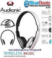 Wireless Bluetooth HeadPhones Audionic BlueBeats B-333