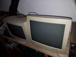 Old computer screens and box for sale