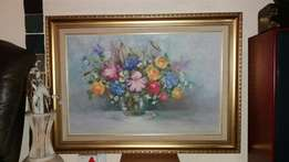 Freda van der Merwe Flower Arrangement Art