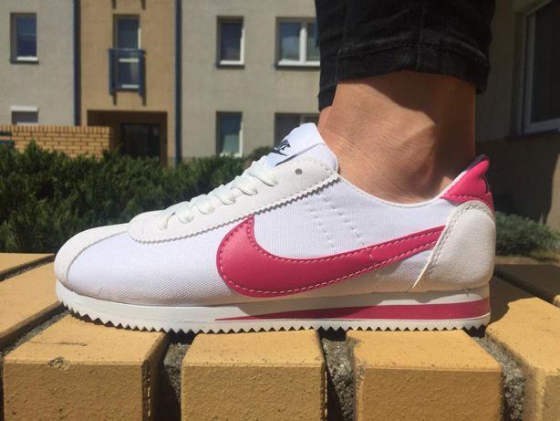wielka wyprzedaż uk gorący produkt moda Nike Cortez Damskie roz. 36/37/38/39/40/41 * Białe , różowe ...