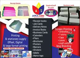 Receipt, Invoice, Delivery books, Cash sale books, Business printing